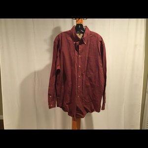 Vtg Tommy Hilfiger red tartan plaid shirt M